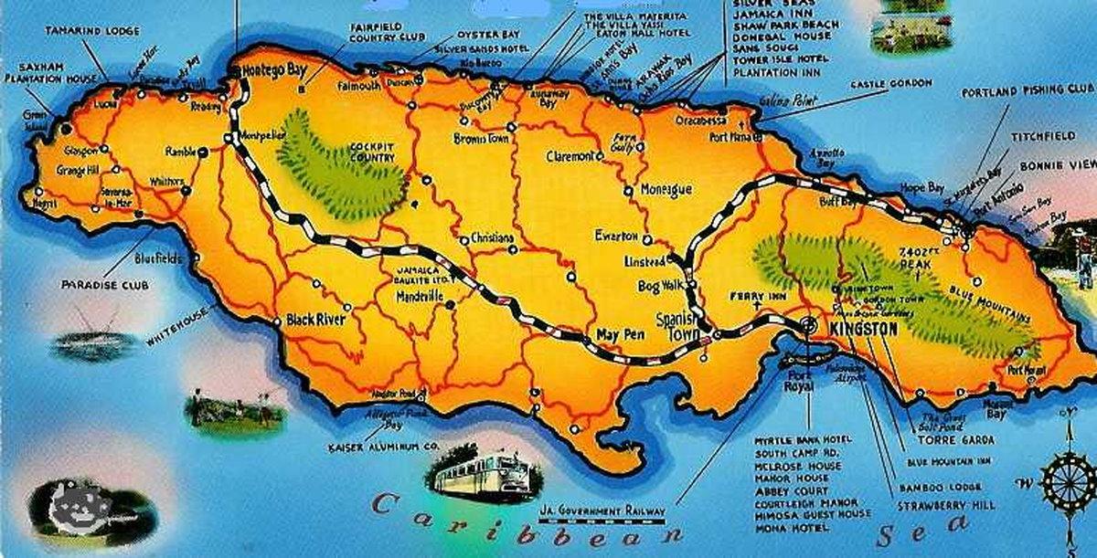 jamaica karta Långresan 1958   1959 av Dan Frostberg   Kingston Jamaica jamaica karta